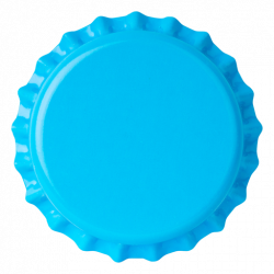 Capsules 26 mm, Bleu cyan
