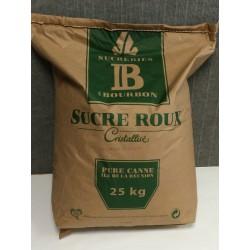 Sucre de canne brun bio, 25Kg